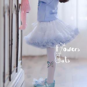 秋冬款新品蓝色雪花冰雪艾莎公主tutu裙女儿童蓬蓬纱裙亮片半身裙