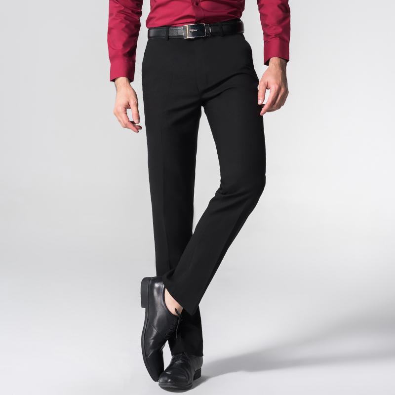 秋季冬款职业商务修身西裤男质感正装加厚西装裤韩版男装上班免烫