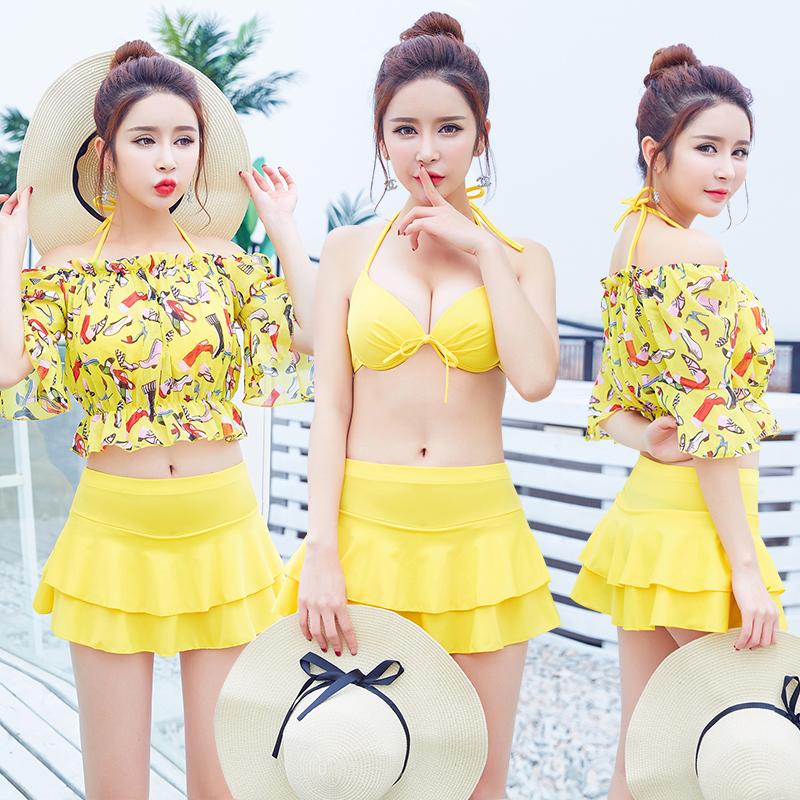 Каждый день специальное предложение плавать женская одежда три образца трещина корея юбка тонкий спа страхование охрана небольшой ароматный ларец собирать