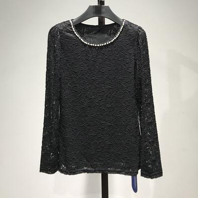【马克HF】衣本品牌女装折扣专柜正品春季新款长袖薄款蕾丝衫