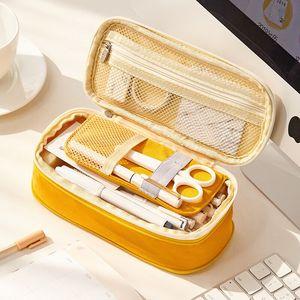 安蔻大容量多功能多层女小学生笔袋