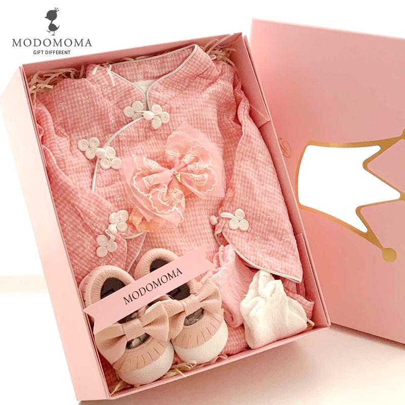 婴儿礼盒新生儿用品衣服春季套装满月初生宝宝礼物送礼公主装唐装