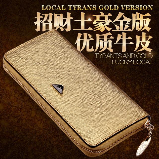 Guangzhou new 2020 Zhaocai gold lady purse long zipper with Korean fashionable leather wallet
