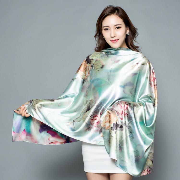 杭州のシルクの直売高級双印のストールの絹の絹織物のマフラーの中国風は外国の友達に送ります。