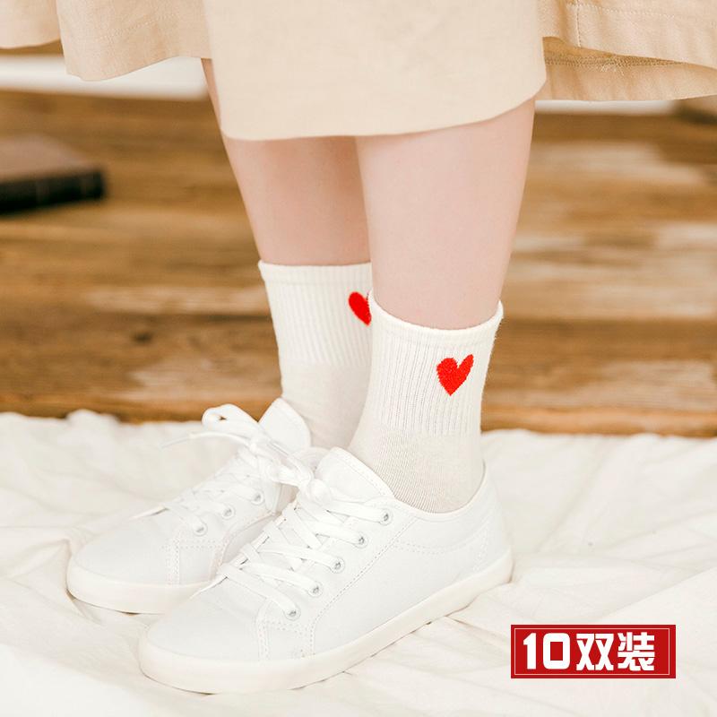 秋冬季韩国学院风运动韩版潮中筒袜热销338件假一赔十