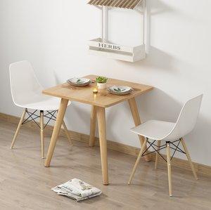 餐桌椅组合家用小户型客厅厨房两用简约现代欧式实木腿圆方形餐桌