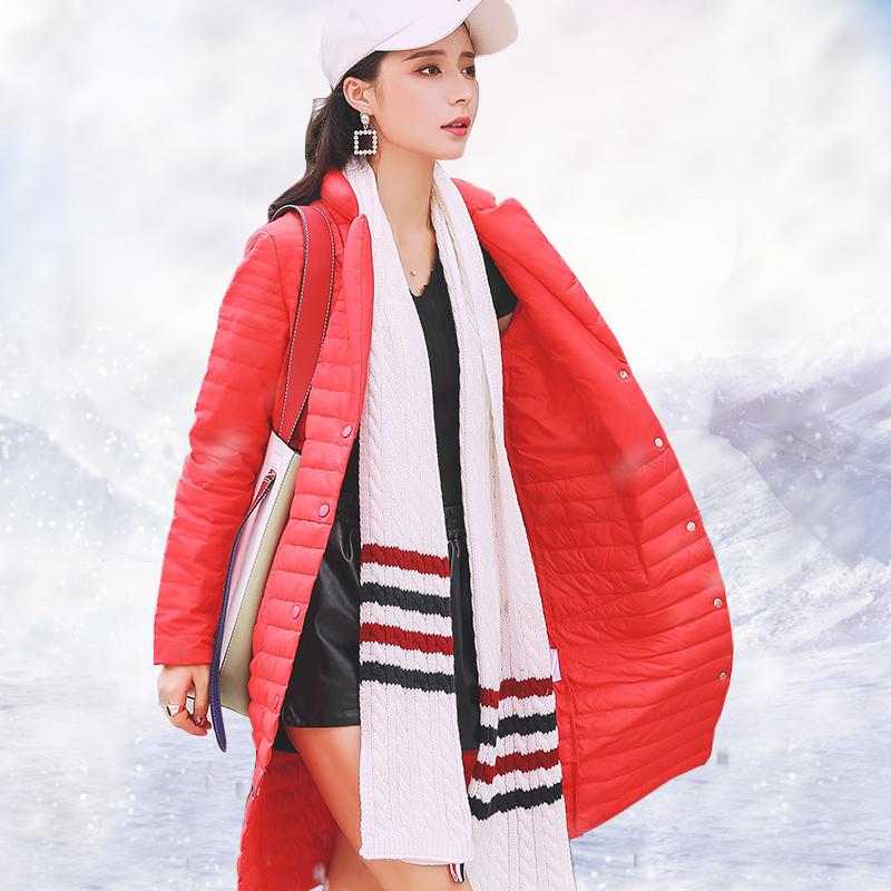反季清仓2017冬装新款韩国薄款羽绒服女中长款韩版宽松显瘦外套潮