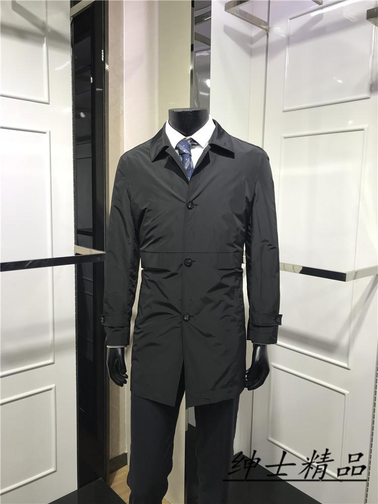 商务标准版男士春季新款翻领中长款风衣品牌专柜正品色2