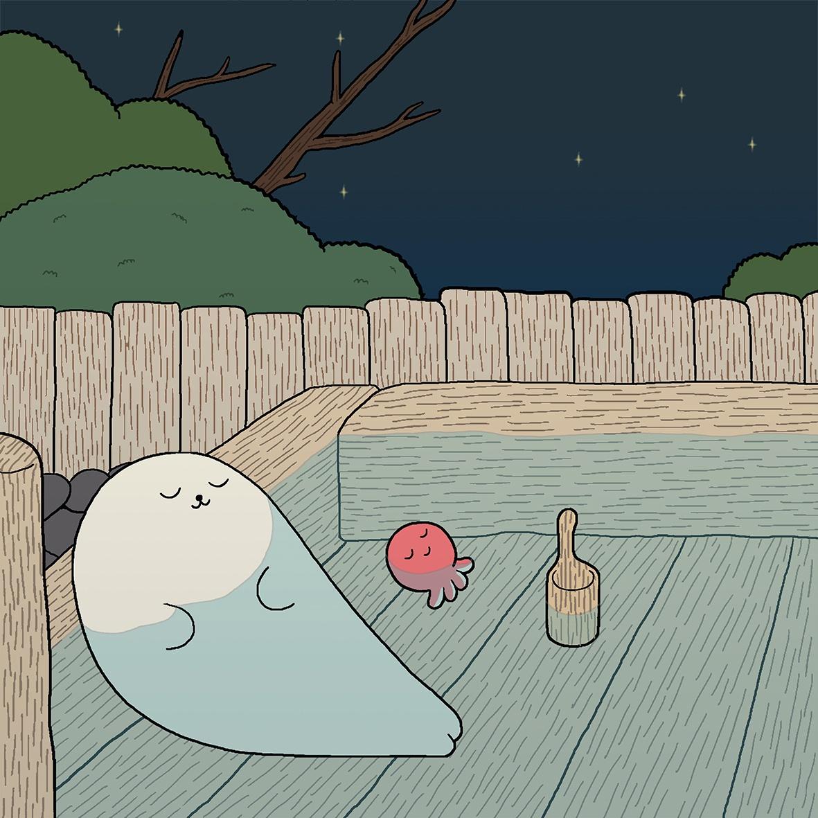 】小海豹系列|夏日温泉官方限量版画XX【王