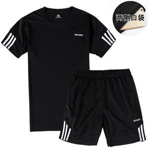 运动短裤男速干休闲宽松跑步健身训练五分裤子男篮球裤套装男包邮