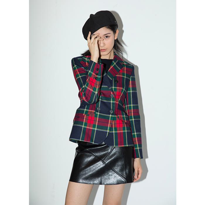 Louis Plaid suit slim short Scottish jacket retro small British versatile style autumn