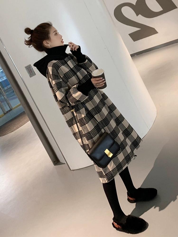 2019年流行早秋新款气质格子裙子