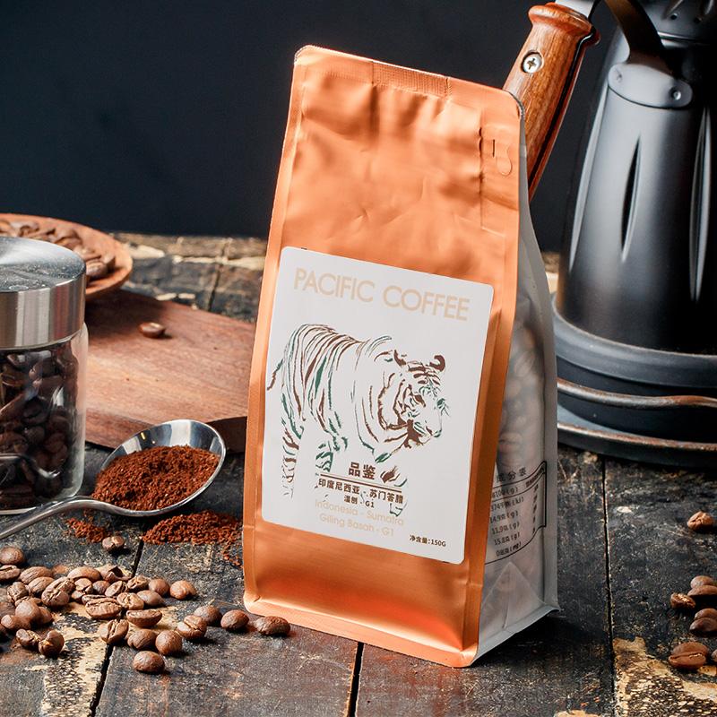 太平洋咖啡品鉴印度尼西亚苏门答腊湿刨 咖啡豆 可现磨咖啡粉150g,可领取5元天猫优惠券