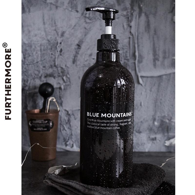 北欧风分装瓶1000毫升大容量空瓶洗发水洗手液乳液PET塑料瓶
