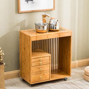 沙发边小茶几泡茶桌边柜实木家用茶台烧水壶茶水架可移动边几角几
