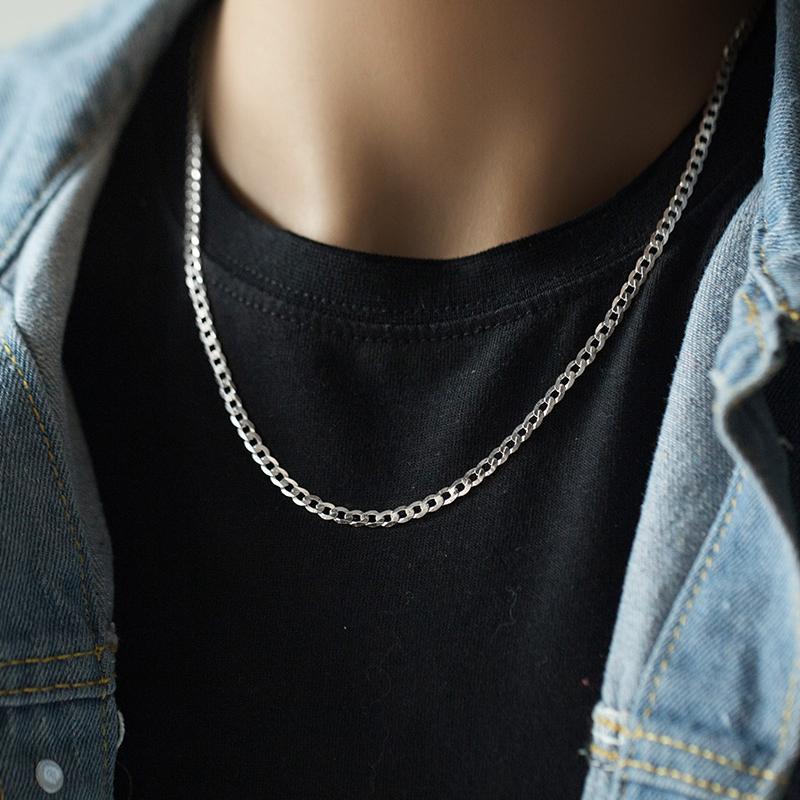 [梦银匠旗舰店项链]S925银项链男锁骨链ins项链男潮月销量211件仅售89元