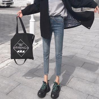 2019春秋新款高腰网红韩版小脚裤子