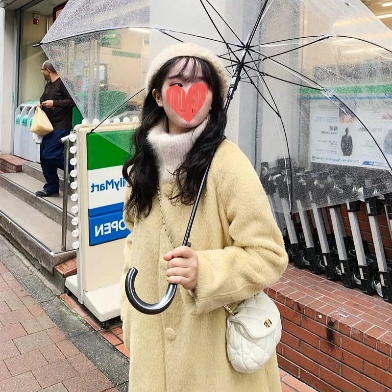 AIO little homemade must in small fresh thickened woolen coat 2021 popular coat womens winter medium and long woolen coat