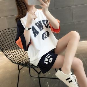 运动服休闲时尚短裤两件套装女装2021年新款夏装夏季女士洋气减龄