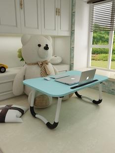 电脑桌可折叠桌学习简约小桌子大学生宿舍懒人桌家用简易床上书桌