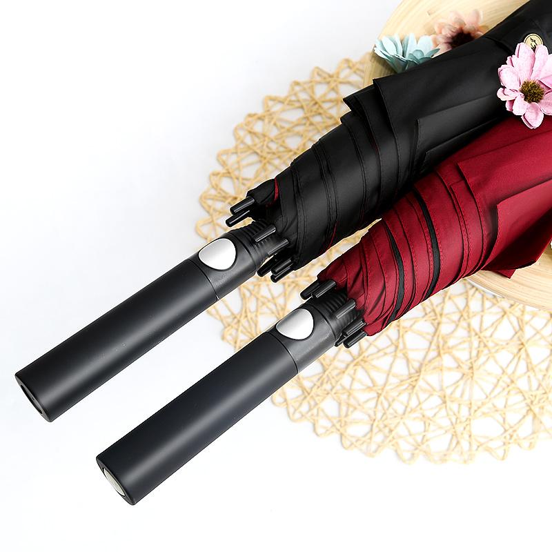 酷纪雨伞长柄男女士超大高尔夫伞半自动双层防风伞商务三人大号