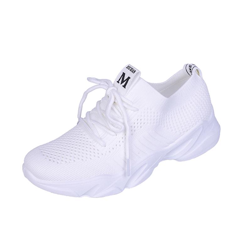 夏季小白鞋女透气网鞋2019新款网面休闲鞋百搭平底轻便运动鞋单鞋