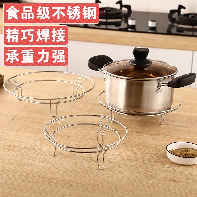 不锈钢圆形厨房简易隔热防烫置物架