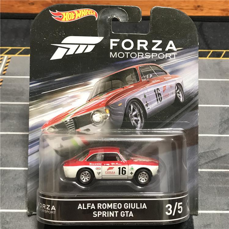 风火轮电影车Forza系列阿尔法罗密欧精品铁底胶轮hotwheels