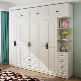 创意五门衣柜现代简约经济型组装实木板人造板2.4m落地大容量轻奢