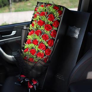 玫瑰花礼盒表白香皂花送女友情人节生日礼物仿真康乃馨创意假花束