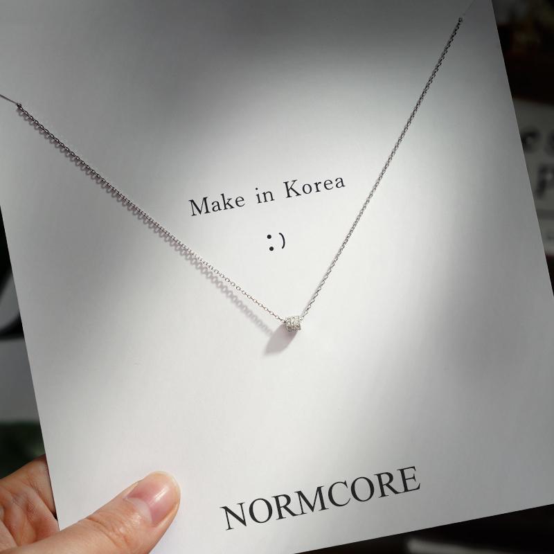 [NORMCORE小岛饰品项链]小众设计轻奢项链女潮925纯银ins月销量317件仅售33.8元