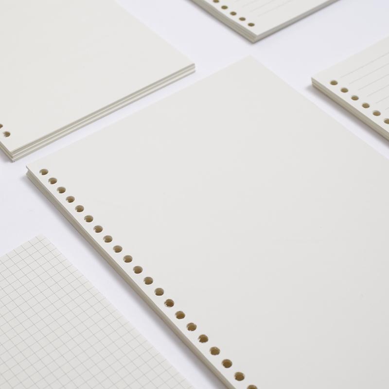 苏铁时光活页纸 B5A5活页芯笔记本文具记事本空白网格手帐本替芯