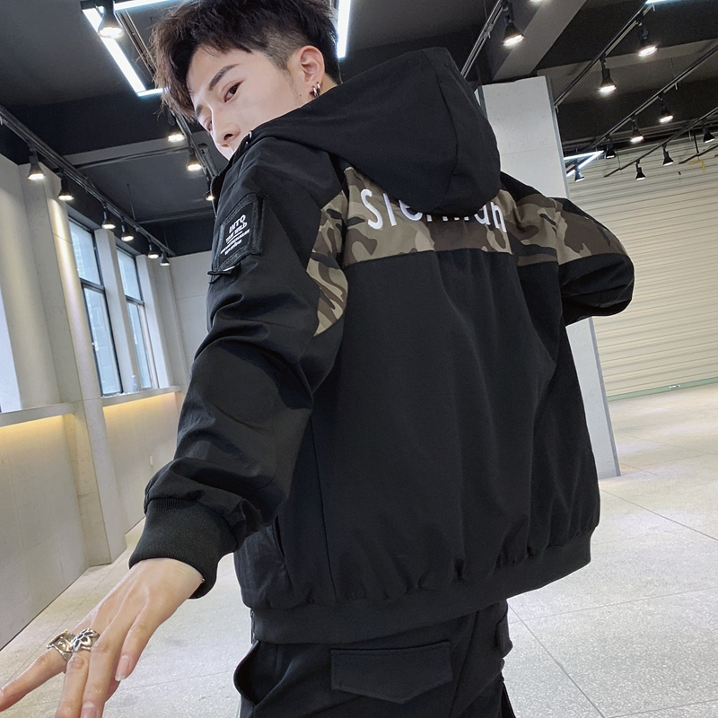 Autumn and winter coat, mens Korean fashion jacket, handsome and versatile, spring and autumn clothes, leisure students, INS fashion brand, Mandarin soil