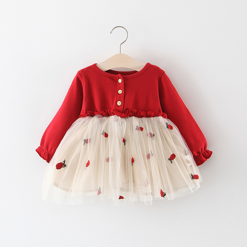 童装春秋儿童小女孩蓬蓬纱女童裙子(用63.01元券)