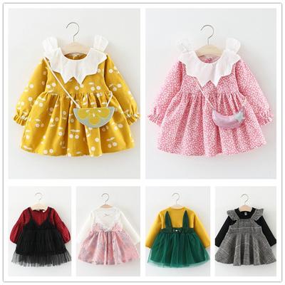 童装女童连衣裙春秋儿童长袖裙子0-1-2-3岁婴幼儿宝宝春装公主裙
