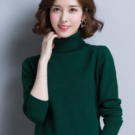 高领打底衫女春秋冬薄款内搭针织衫韩版套头加厚宽松外穿女士毛衣