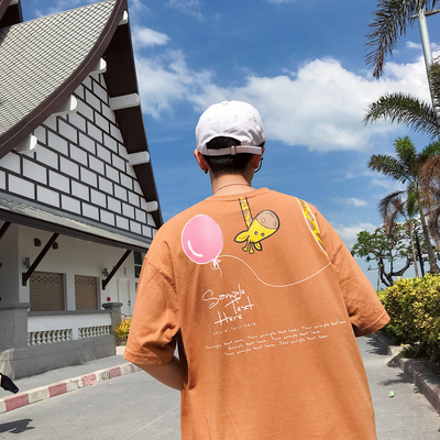 T103-P40 2018夏季短袖t恤韩版潮流宽松半袖学生打底衣服 控价50