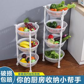 蔬菜架水果菜篮架子厨房置物架收纳储物架移动整理层架推车带轮子图片