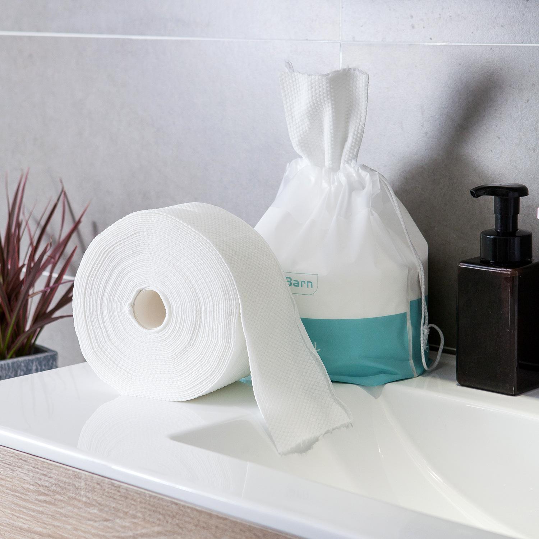 出口日本纯棉加厚柔巾一次性洗脸巾婴儿洁面纸巾旅行美容巾毛巾