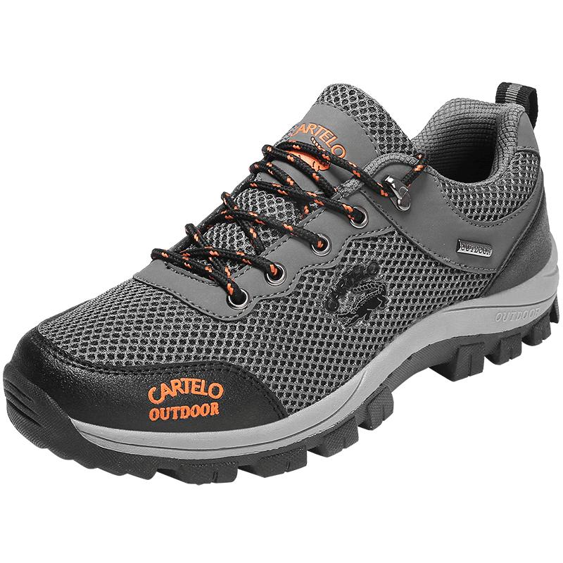 卡帝乐鳄鱼正品男鞋户外徒步登山鞋山地运动鞋越野跑鞋透气休闲鞋