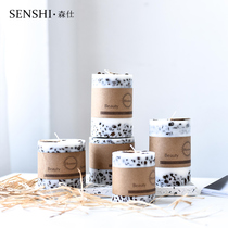 Simple creative aromatherapy handmade Coffee Bean Fragrance Candle Restaurant home decoration cylindrical candle gift decoration