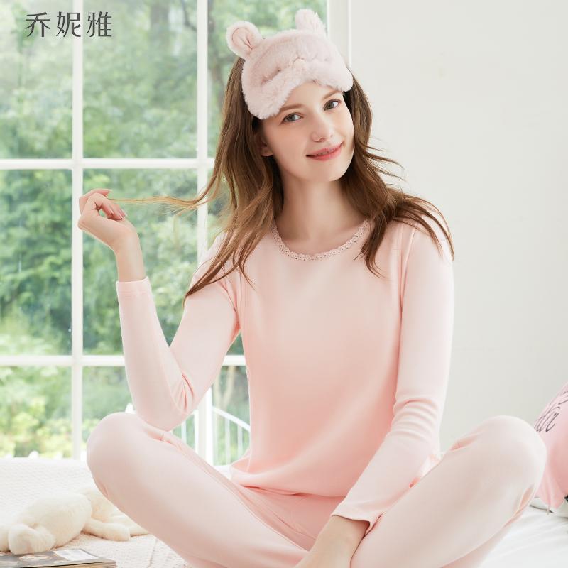乔妮雅孕妇秋衣纯棉加厚棉毛衫睡衣