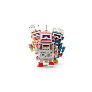 领2元券购买上链铁皮机器人发条怀旧减压整蛊无聊玩具朋友儿童圣诞节生日礼物