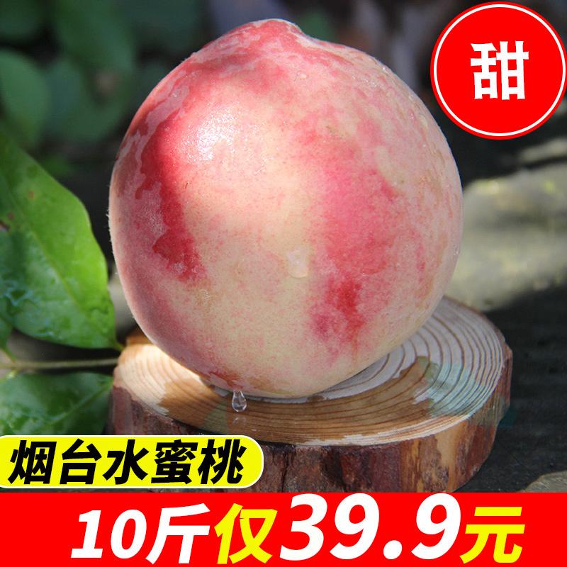 烟台寒露水蜜桃当季应季新鲜水果脆甜毛桃子白雪冬蟠桃10斤