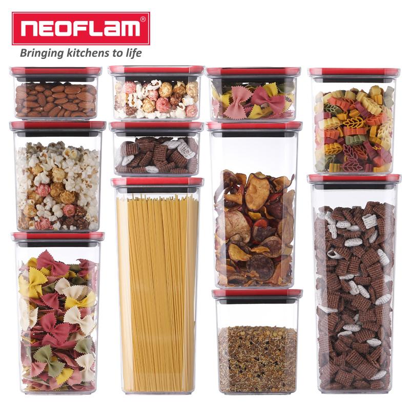Neoflam真空雜糧廚房儲物罐密封罐冰箱收納塑料食品盒家用防潮罐