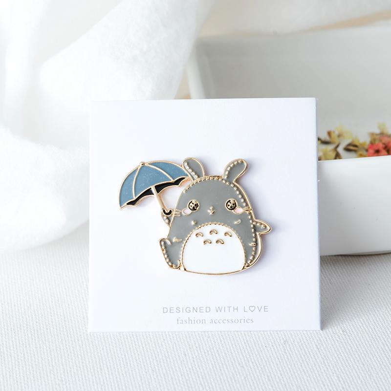 Japan and South Korea Harajuku cute animal modeling badge coat decoration girl student Brooch cartoon chinchilla Brooch