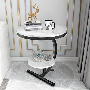 轻奢角几大理石边几客厅沙发边桌阳台小圆桌床边柜创意北欧小茶几图片