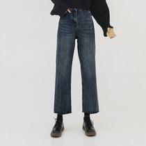 适合胯大腿粗的裤子大码胖妹妹梨形身材穿搭牛仔裤女秋冬装加绒潮