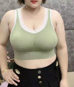 粉丝专享美背运动文胸撞色大码乳胶无缝市内衣