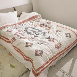 新款日本纯棉毛毯加厚毛巾被单双人空调被全棉透气毛巾毯夏季被子